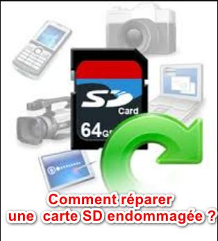 carte SD corrompue d'Android