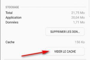 Vider le cache de l'application